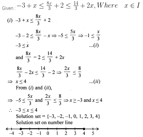 ML Aggarwal Class 10 Solutions for ICSE Maths Chapter 4 Linear Inequations Ex 4 41