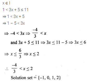 ML Aggarwal Class 10 Solutions for ICSE Maths Chapter 4 Linear Inequations MCQS 4