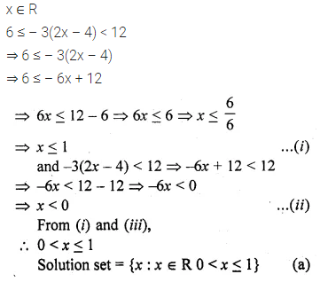 ML Aggarwal Class 10 Solutions for ICSE Maths Chapter 4 Linear Inequations MCQS 5