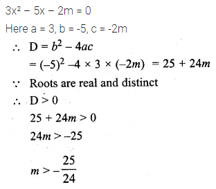 ML Aggarwal Class 10 Solutions for ICSE Maths Chapter 5 Quadratic Equations in One Variable Chapter Test 21