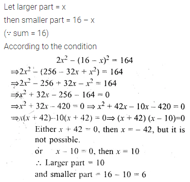 ML Aggarwal Class 10 Solutions for ICSE Maths Chapter 5 Quadratic Equations in One Variable Chapter Test 25