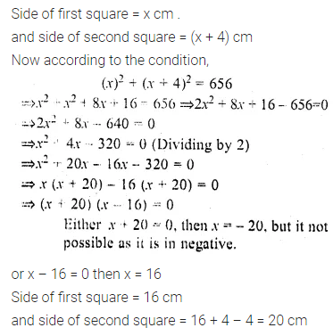 ML Aggarwal Class 10 Solutions for ICSE Maths Chapter 5 Quadratic Equations in One Variable Chapter Test 27