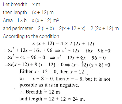 ML Aggarwal Class 10 Solutions for ICSE Maths Chapter 5 Quadratic Equations in One Variable Chapter Test 28