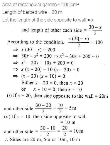 ML Aggarwal Class 10 Solutions for ICSE Maths Chapter 5 Quadratic Equations in One Variable Chapter Test 29
