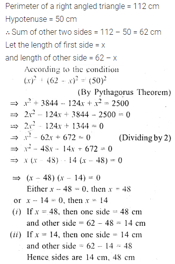 ML Aggarwal Class 10 Solutions for ICSE Maths Chapter 5 Quadratic Equations in One Variable Chapter Test 31