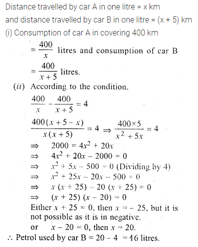 ML Aggarwal Class 10 Solutions for ICSE Maths Chapter 5 Quadratic Equations in One Variable Chapter Test 32