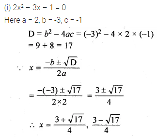 ML Aggarwal Class 10 Solutions for ICSE Maths Chapter 5 Quadratic Equations in One Variable Chapter Test 9