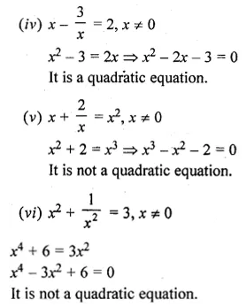 ML Aggarwal Class 10 Solutions for ICSE Maths Chapter 5 Quadratic Equations in One Variable Ex 5.1 2