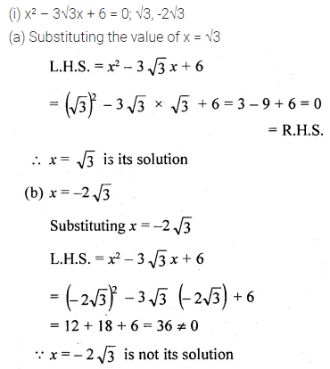 ML Aggarwal Class 10 Solutions for ICSE Maths Chapter 5 Quadratic Equations in One Variable Ex 5.1 7