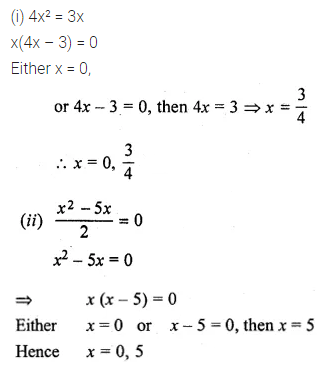 ML Aggarwal Class 10 Solutions for ICSE Maths Chapter 5 Quadratic Equations in One Variable Ex 5.2 1