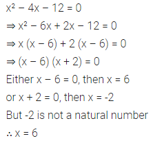 ML Aggarwal Class 10 Solutions for ICSE Maths Chapter 5 Quadratic Equations in One Variable Ex 5.2 10