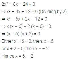 ML Aggarwal Class 10 Solutions for ICSE Maths Chapter 5 Quadratic Equations in One Variable Ex 5.2 11