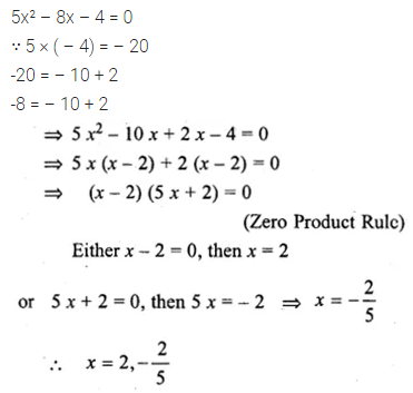 ML Aggarwal Class 10 Solutions for ICSE Maths Chapter 5 Quadratic Equations in One Variable Ex 5.2 12