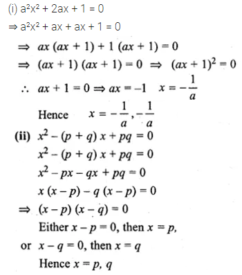 ML Aggarwal Class 10 Solutions for ICSE Maths Chapter 5 Quadratic Equations in One Variable Ex 5.2 14