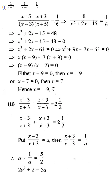 ML Aggarwal Class 10 Solutions for ICSE Maths Chapter 5 Quadratic Equations in One Variable Ex 5.2 26
