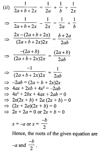 ML Aggarwal Class 10 Solutions for ICSE Maths Chapter 5 Quadratic Equations in One Variable Ex 5.2 29