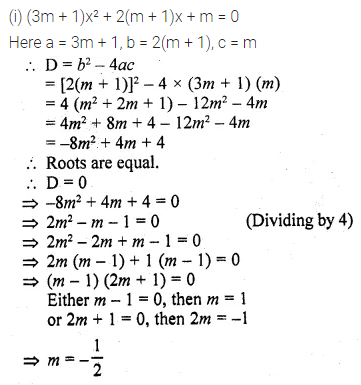 ML Aggarwal Class 10 Solutions for ICSE Maths Chapter 5 Quadratic Equations in One Variable Ex 5.4 9