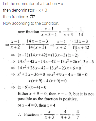 ML Aggarwal Class 10 Solutions for ICSE Maths Chapter 5 Quadratic Equations in One Variable Ex 5.5 12