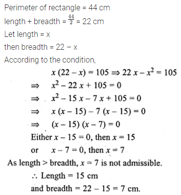 ML Aggarwal Class 10 Solutions for ICSE Maths Chapter 5 Quadratic Equations in One Variable Ex 5.5 17