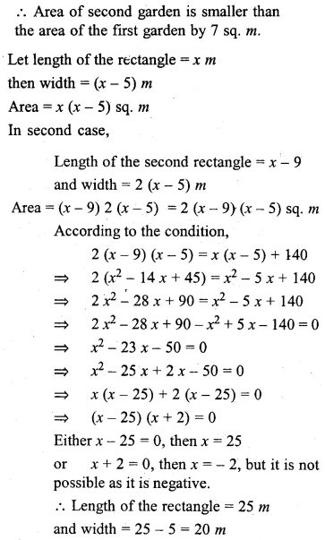 ML Aggarwal Class 10 Solutions for ICSE Maths Chapter 5 Quadratic Equations in One Variable Ex 5.5 20