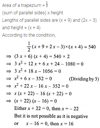 ML Aggarwal Class 10 Solutions for ICSE Maths Chapter 5 Quadratic Equations in One Variable Ex 5.5 22