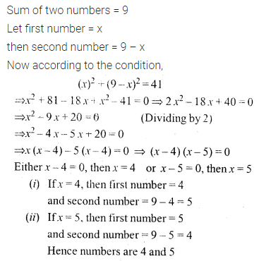 ML Aggarwal Class 10 Solutions for ICSE Maths Chapter 5 Quadratic Equations in One Variable Ex 5.5 5
