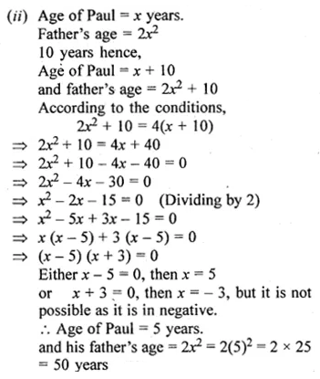 ML Aggarwal Class 10 Solutions for ICSE Maths Chapter 5 Quadratic Equations in One Variable Ex 5.5 52