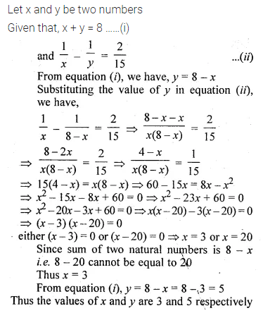 ML Aggarwal Class 10 Solutions for ICSE Maths Chapter 5 Quadratic Equations in One Variable Ex 5.5 7