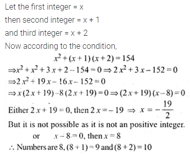 ML Aggarwal Class 10 Solutions for ICSE Maths Chapter 5 Quadratic Equations in One Variable Ex 5.5 9