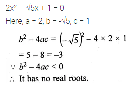 ML Aggarwal Class 10 Solutions for ICSE Maths Chapter 5 Quadratic Equations in One Variable MCQS 13