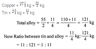 ML Aggarwal Class 10 Solutions for ICSE Maths Chapter 7 Ratio and Proportion Ex 7.1 1