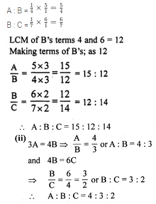 ML Aggarwal Class 10 Solutions for ICSE Maths Chapter 7 Ratio and Proportion Ex 7.1 10