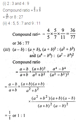 ML Aggarwal Class 10 Solutions for ICSE Maths Chapter 7 Ratio and Proportion Ex 7.1 2