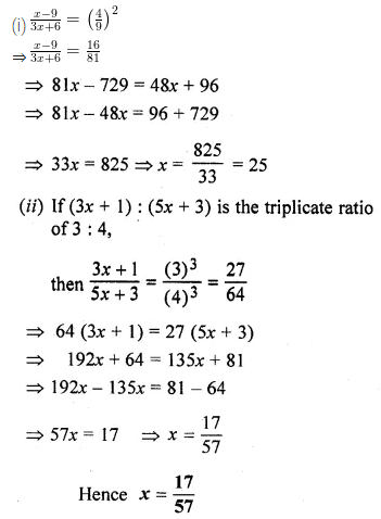 ML Aggarwal Class 10 Solutions for ICSE Maths Chapter 7 Ratio and Proportion Ex 7.1 18