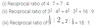 ML Aggarwal Class 10 Solutions for ICSE Maths Chapter 7 Ratio and Proportion Ex 7.1 7
