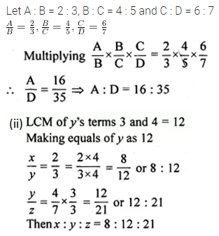 ML Aggarwal Class 10 Solutions for ICSE Maths Chapter 7 Ratio and Proportion Ex 7.1 9