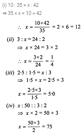 ML Aggarwal Class 10 Solutions for ICSE Maths Chapter 7 Ratio and Proportion Ex 7.2 1
