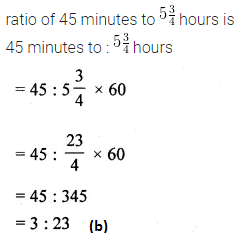 ML Aggarwal Class 10 Solutions for ICSE Maths Chapter 7 Ratio and Proportion MCQS 1