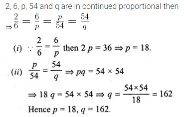 ML Aggarwal Class 10 Solutions for ICSE Maths Chapter 7 Ratio and Proportion MCQS 18