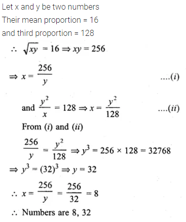 ML Aggarwal Class 10 Solutions for ICSE Maths Chapter 7 Ratio and Proportion MCQS 20