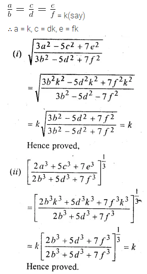 ML Aggarwal Class 10 Solutions for ICSE Maths Chapter 7 Ratio and Proportion MCQS 22