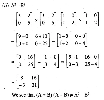 ML Aggarwal Class 10 Solutions for ICSE Maths Chapter 8 Matrices Chapter Test 10