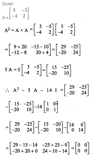 ML Aggarwal Class 10 Solutions for ICSE Maths Chapter 8 Matrices Chapter Test 11