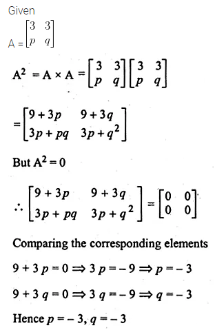 ML Aggarwal Class 10 Solutions for ICSE Maths Chapter 8 Matrices Chapter Test 12