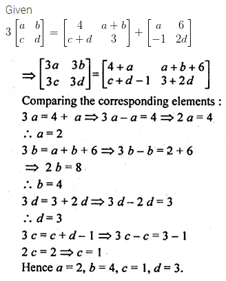 ML Aggarwal Class 10 Solutions for ICSE Maths Chapter 8 Matrices Chapter Test 2