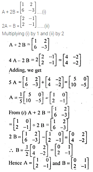 ML Aggarwal Class 10 Solutions for ICSE Maths Chapter 8 Matrices Chapter Test 4