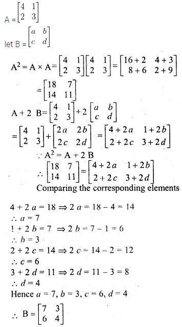 ML Aggarwal Class 10 Solutions for ICSE Maths Chapter 8 Matrices Chapter Test 5