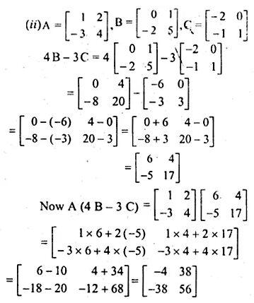 ML Aggarwal Class 10 Solutions for ICSE Maths Chapter 8 Matrices Chapter Test 6
