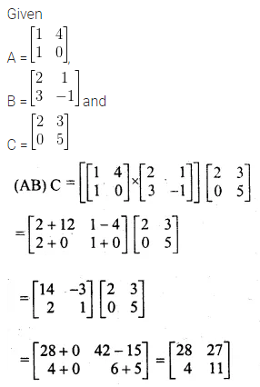 ML Aggarwal Class 10 Solutions for ICSE Maths Chapter 8 Matrices Chapter Test 7