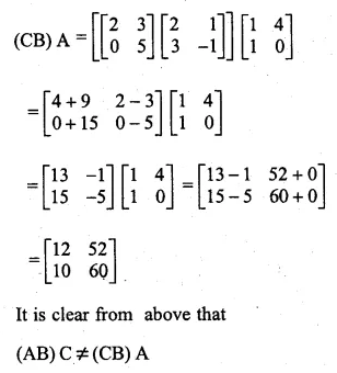 ML Aggarwal Class 10 Solutions for ICSE Maths Chapter 8 Matrices Chapter Test 8